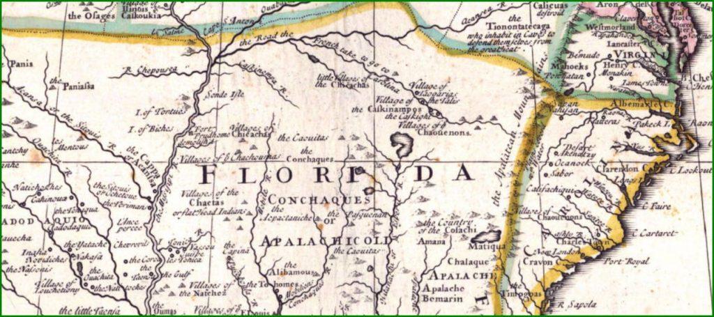 1710 Senex Map Portion