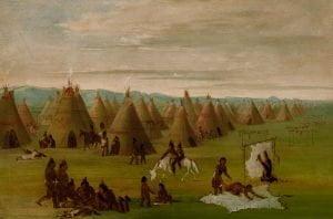 A Comanche Village