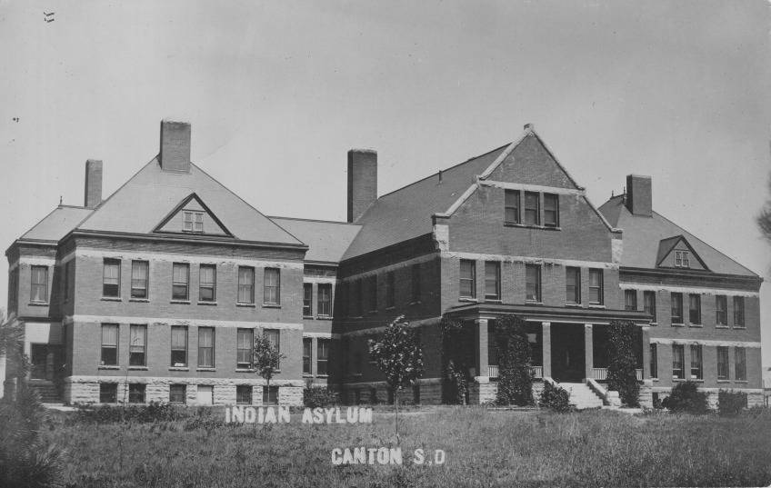The Indian Asylum in Canton, South Dakota in 1905