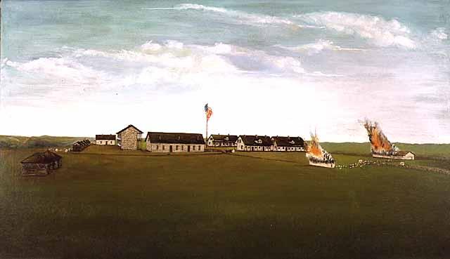 Fort Ridgley Burning