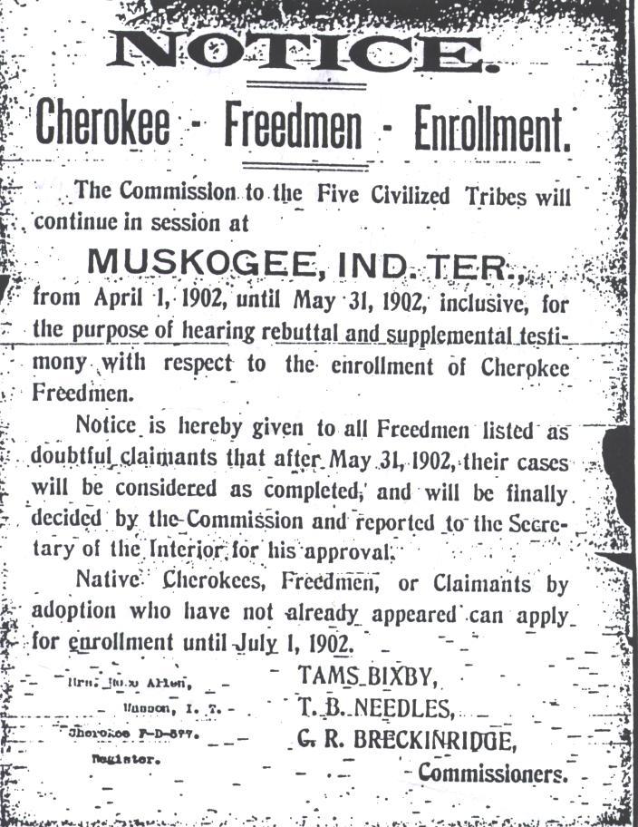 Freedmen Notice