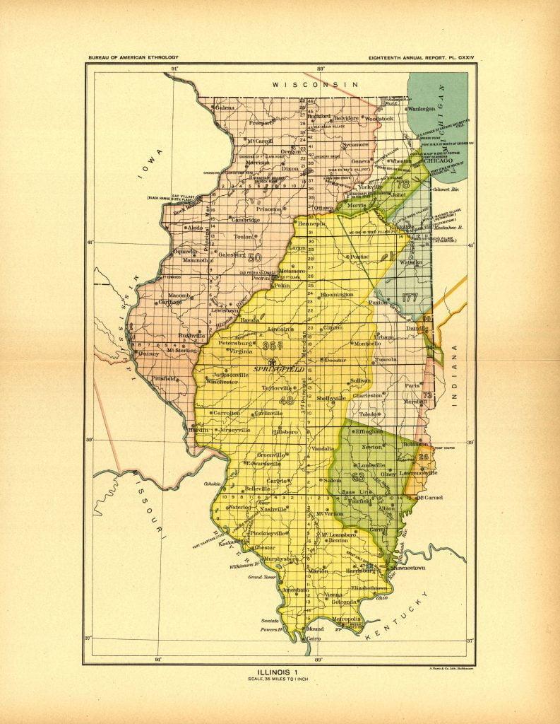 Illinois Land Cessions Map
