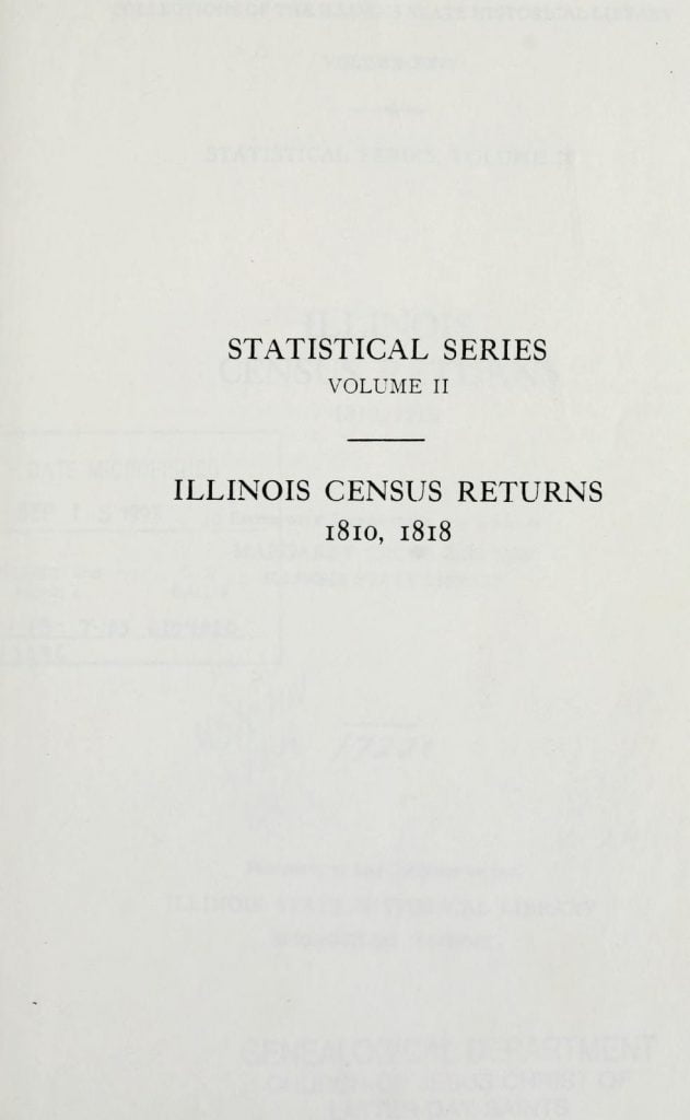 1818 Illinois State Census 2