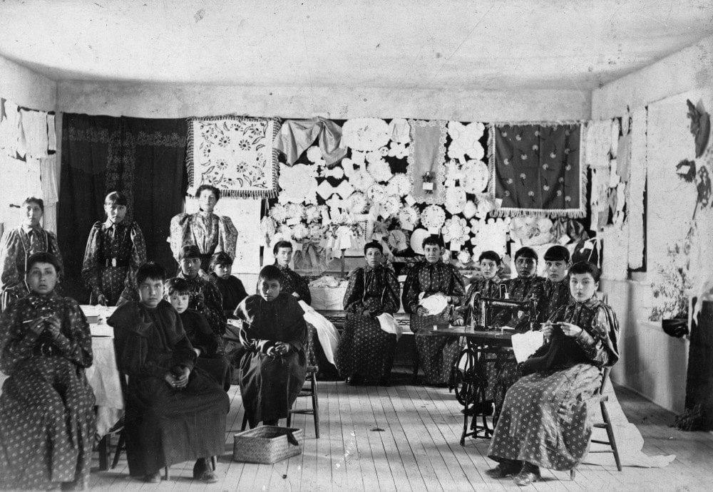 Girls at the Fort Shaw Indian School