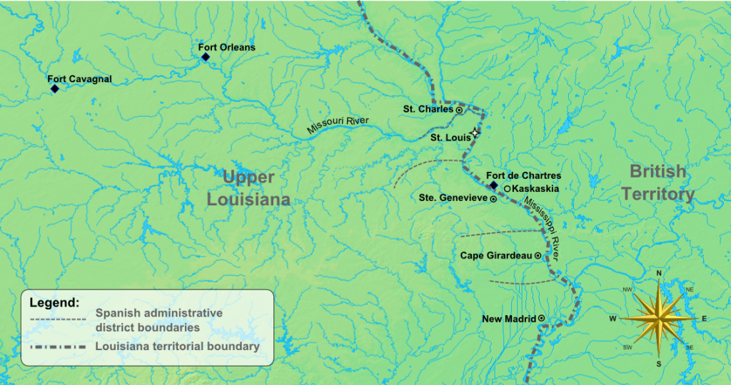 Map of Early Missouri Settlements