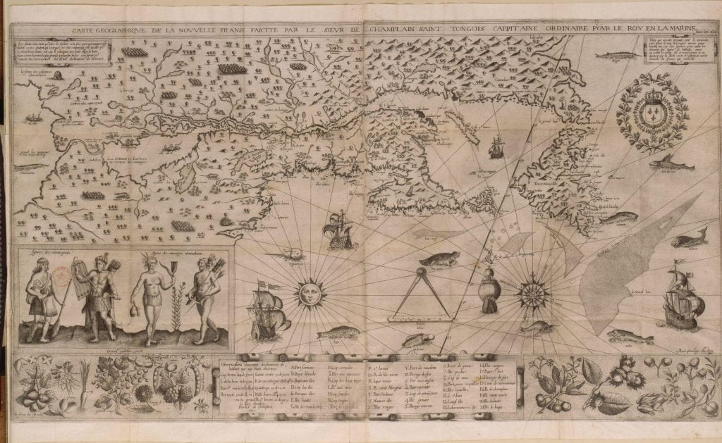 1612 Map of New France
