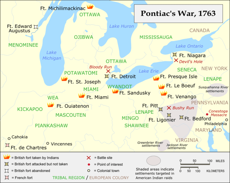 Map of Pontiacs War