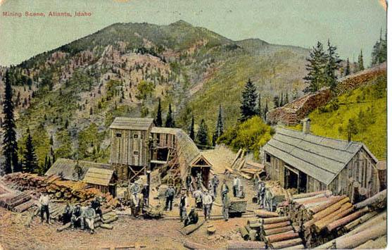 Mining Scene Atlanta Idaho