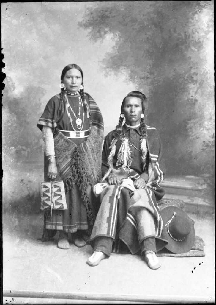 Mr. and Mrs. Three Mountain, Washington State, circa 1920