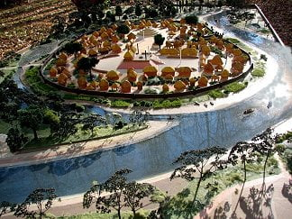 Artist rendition of the Town of Ochesee