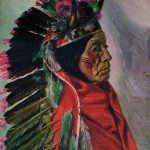 Painting of chief Chief Killer - Cheyenne - E A Burbank