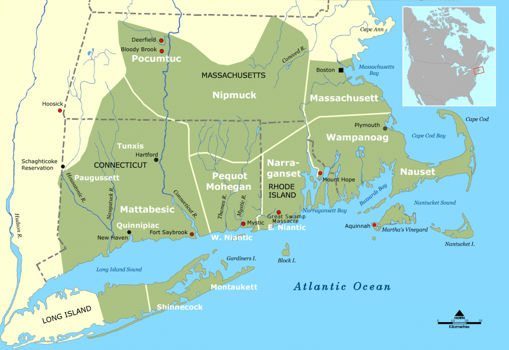Tribal Territories Southern New England