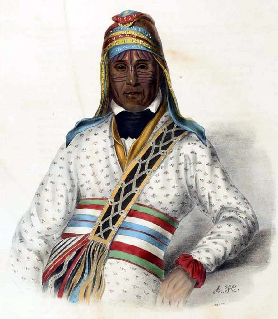 Yoholo-Micco. A Creek Chief, from History of the Indian Tribes of North America