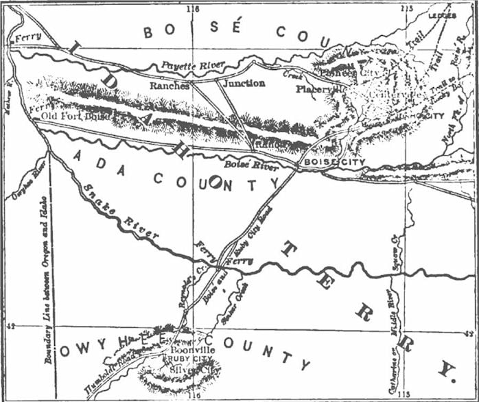 Map of Boise Basin
