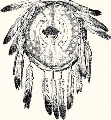 Fig. 33. A Buffalo Hide Shield from the Northern Blackfoot