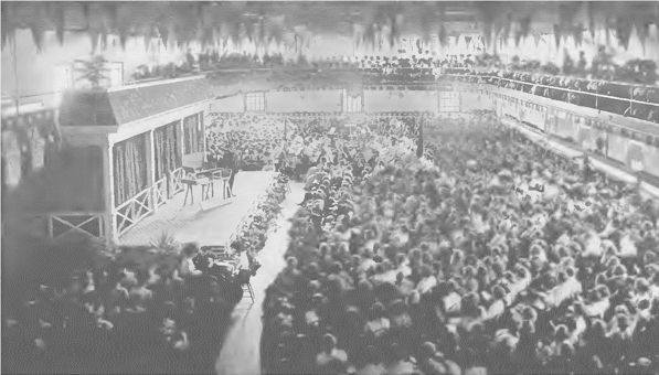 Carlisle School Gymnasium During Graduation Exercises