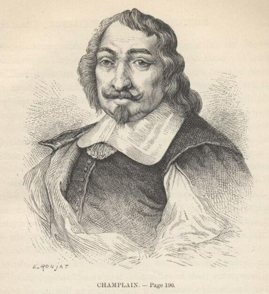Samuel de Champlain, by E. Ronjat