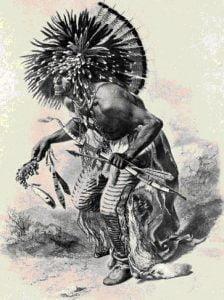 Fig. 35. A Dog Dancer. Hidatsa. (After Maximilian.)
