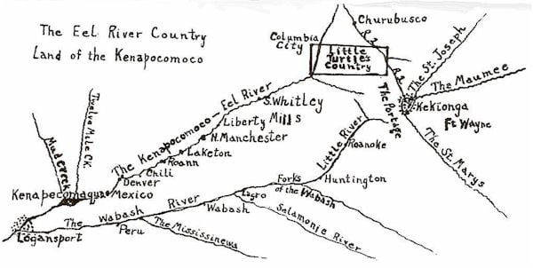 Map of Eel River Country