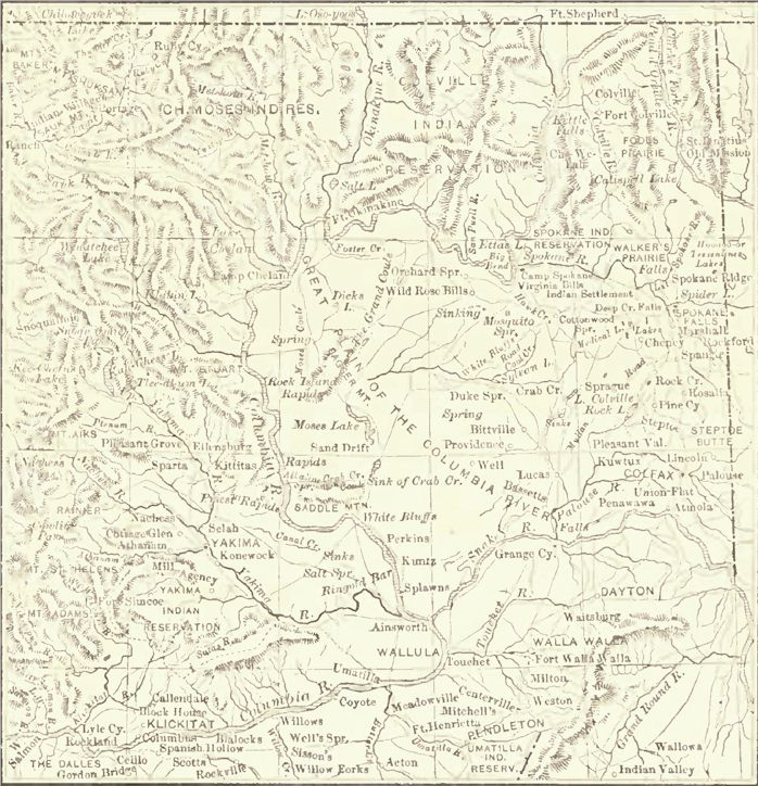 Map of Eastern Washington
