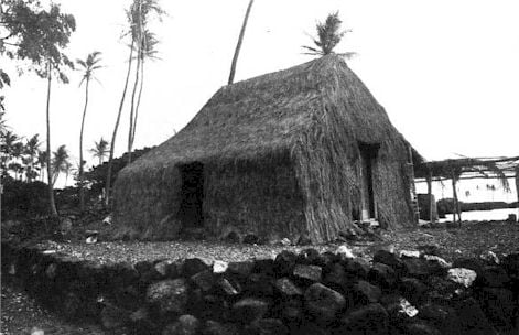 A Grass House of the Olden Time