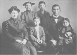Thomas King Family. Omaha Tribe