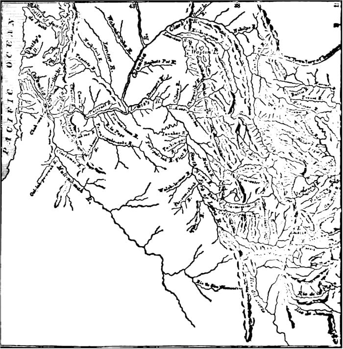 Lewis and Clarke's Map, 1806