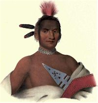 Moanahonga, Great Walker, An Ioway Brave