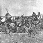 Shoshones and Bannocks at Camp, Near Fort Hall