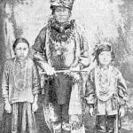 Sac and Fox Chief and Son and Daughter