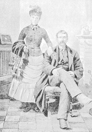 J. H. Cushway and daughter, half-blood Potawatomie Indians