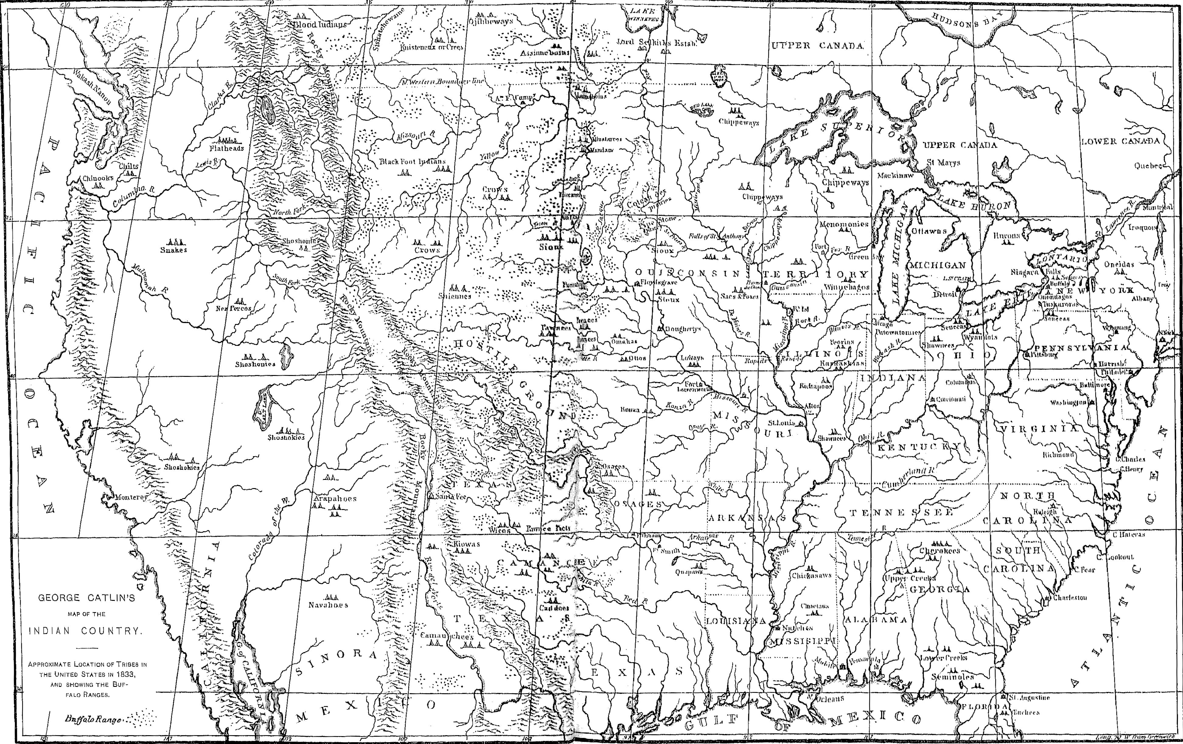 1840 Map Of The United States Indian Frontier Access Genealogy - Us-map-1840