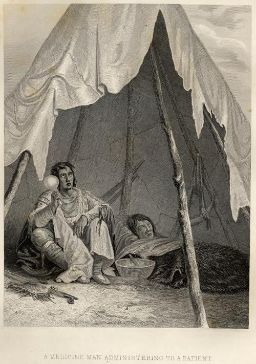 A Medicine Man Administering to a Patient - Plate 46