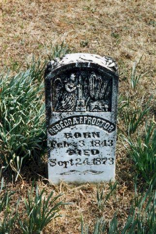Rebecca Mitchell Proctor Grave Marker