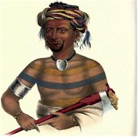 Shauhaunapotinia, Man who killed three Sioux, An Ioway Chief
