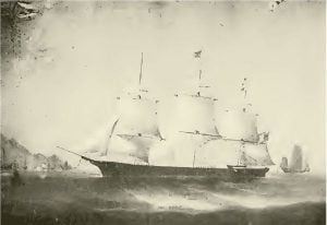 """Ship """"Archer"""" Original painted in Hong Kong, China, for Capt. Josiah P. Cressy, now owned by Henry W. Brown, Marblehead"""