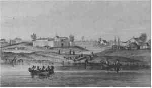 Sketch of Chicago in 1820