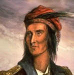 A colored version of Lossing's portrait of Tecumseh
