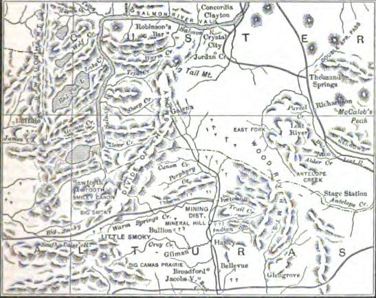 Map of Wood River Mineral District
