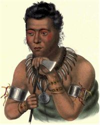 Young Mahaskah, An Ioway Chief