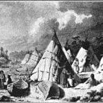 """""""Encampment among the Islands  of Lake Huron."""" Paul Kane, 1845."""
