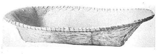 Ojibway birch bark dish.