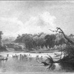 Punka Indians encamped on the banks of the Missouri - Karl Bodmer 1833