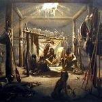 """The interior of the hut of a Mandan chief"" - Karl Bodmer, 1833"