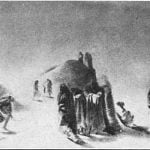 "Original pencil sketch, ""Winter Village of the Minatarres"" - Karl Bodmer, 1833"