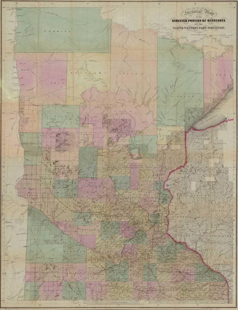 Sewall's map of Minnesota