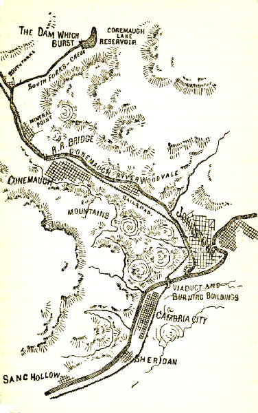 Map of the Conemaugh Valley