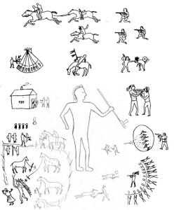 Fig. 2 (5O-4485). Selected Figures from a decorated Tipi.
