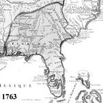 1763 Official French map of the Southeast