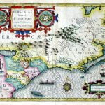 1606 Mercater - Hondius Map of Virginia and Florida